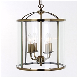 Impex LG77134/AB 'Orly' 4 Light Lantern in Antique Brass finish.