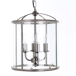 Impex Lighting LG77134/SN 'Orly' Satin Nickel Lantern.