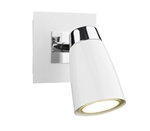 Dar Lighting LOF072 Loft White and Chrome switched Wall light
