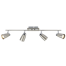 Dar Lighting LOF8446 Loft Chrome Spotlight Bar