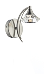 Dar Luther LUT0746 Satin Chrome Single Wall Light