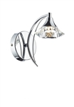 Dar Luther LUT0750 Polished Chrome Single Wall Light