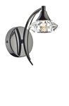 Dar Luther LUT0767 Black Chrome Single Wall Light