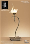 MANTRA Lighting M0329AB/S Viena Table Light In Antique Brass