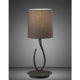 Mantra M3682 Lua Small Table Lamp in Ash Grey Finish.