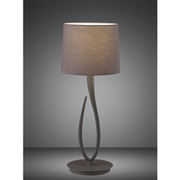 Mantra M3688 Lua Table Lamp in Ash Grey Finish.
