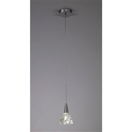 Mantra M3754 Iku Single Pendant Fitting in Satin Nickel Finish.