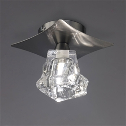 Mantra M3756 Iku Single Flush Fitting in Satin Nickel Finish.