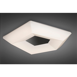 Mantra M3795 City LED Flush Ceiling Fitting with an Opal Shade