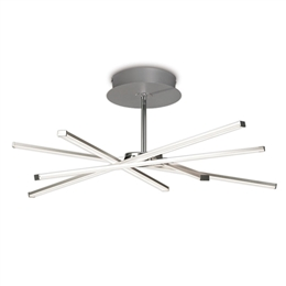 Mantra M5918 Star LED Ceiling light in Silver and Polished Chrome finish