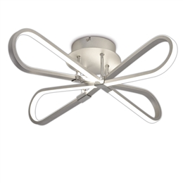 Mantra M5982 Bucle LED Ceiling light in Silver and Polished Chrome finish
