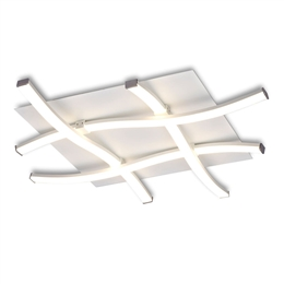 Mantra M4984 Nur LED Flush Ceiling Fitting in Silver and Chrome finish