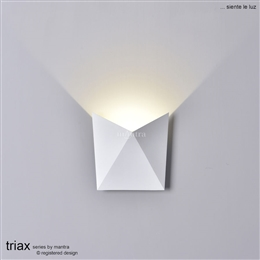 Mantra M6526 Triax Exterior LED Wall Light in White finish