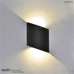 Mantra M6530 Sochi Exterior LED Wall Light in Anthracite finish