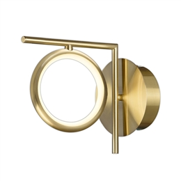 Mantra M6585 Olimpia 8w LED Wall Light in Satin Gold finish
