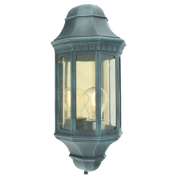 Elstead M8 VERDI Malaga Flush Half Lantern in Verdigris finish