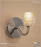 MANTRA Lighting M8009 Sphere Single Wall Light In Antique Brass