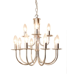 Kansa MALMO32 Malmo 12 Light Chandelier in Stainless Steel Finish