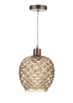 DAR MOS6535 Mosaic 1 Light Non-Electric Pendant.