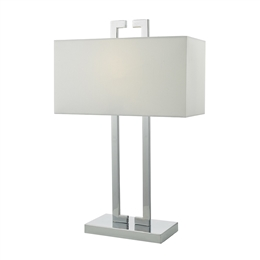 Dar NIL4250 Nile Table Lamp with Ivory Shade.