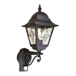 Elstead NR1 PIR Norfolk Up Pointing Wall Lantern with PIR Sensor