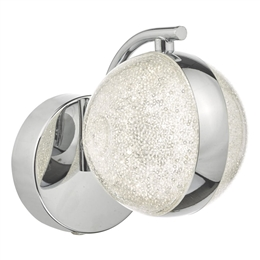 Dar NYM0750 Nyma LED Wall Light in Polished Chrome Finish