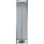 Dar Lighting OPU4975 Opus 1 Light Floor Lamp Antique Brass.
