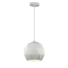Hull Lighting PCH145 Tangent Small Pendant in White Finish