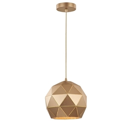 Hull Lighting PCH149 Tangent Small Pendant in Rose Gold Finish