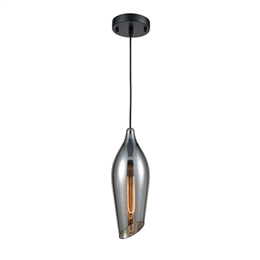 Franklite PCH192 Taper Smoked Glass Pendant.