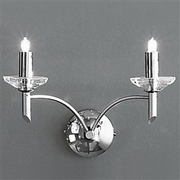 Franklite PE9852 Rhapsody 2 Light Chrome Wall Bracket