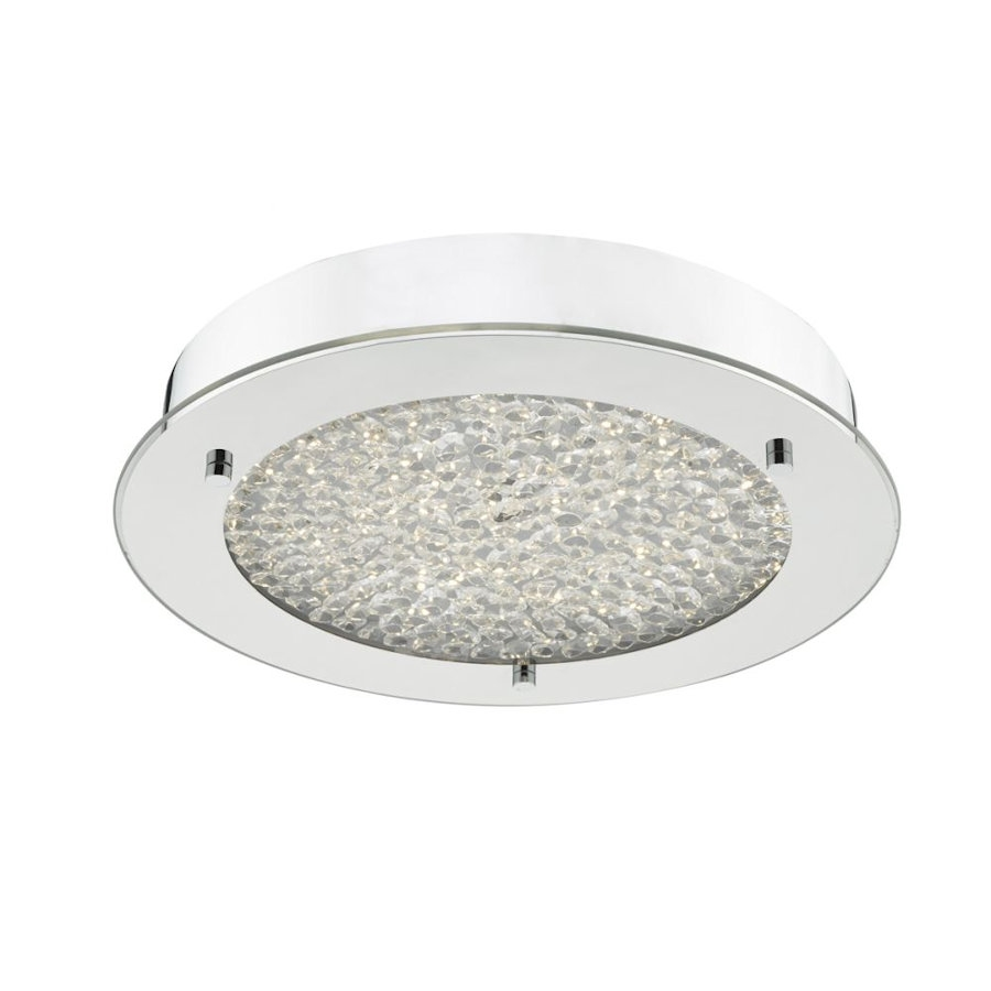 Bathroom Light Fittings dar lighting pet5250 peta led chrome and crystal fitting