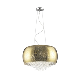 Impex PGH1802/05/G Luna 5 Light Crystal Pendant Fitting in Gold finish