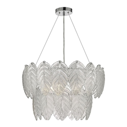Dar Lighting PHI0308 Phillipa 3 Light Textured Glass Pendant