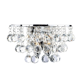 DAR Lighting PLU0950 Pluto 2 Light Polished Chrome Wall Bracket...