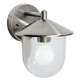 Dar Lighting POO1544 Poole Outdoor Stainless Steel Wall Light.