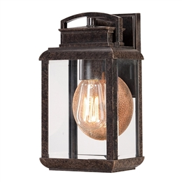 Elstead Lighting QZ/BYRON/S Byron Small Wall Lantern in Imperial Bronze finish