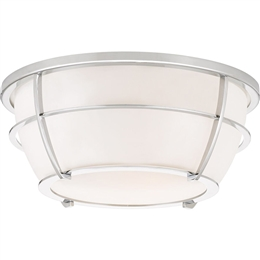Elstead QZ/CHANCE/F PC Chance 2 Light Flush Bathroom Ceiling light in Polished Chrome finish