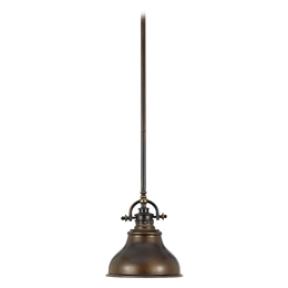 Elstead QZ/EMERY/P/S PN Emery 1 Light Small Pendant in Palladian Bronze Finish.