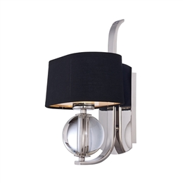 Elstead QZ/GOTHAM1 Gotham Single Wall Light in Imperial Silver finish.