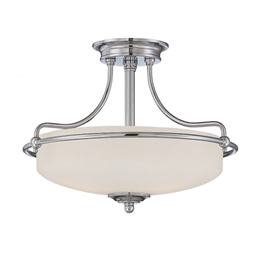 Elstead QZ/GRIFFIN/SFSC 3 Light Semi-Flush fitting in Polished Chrome Finish