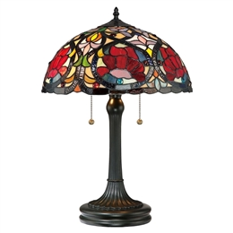 Elstead QZ/LARISSA/TL Larissa Tiffany Table Lamp