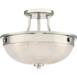 Elstead QZ/MANTLE/SF IS Mantle 2 Light Semi-Flush fitting in Imperial Silver finish