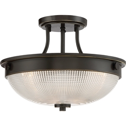 Elstead QZ/MANTLE/SF PN Mantle 2 Light Semi-Flush fitting in Palladian Bronze finish