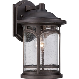 Elstead QZ/MARBLEHEAD2/M 1 Light Exterior Wall Lantern in Palladian Bronze finish.