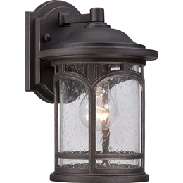 Elstead QZ/MARBLEHEAD2/S 1 Light Exterior Wall Lantern in Palladian Bronze finish.
