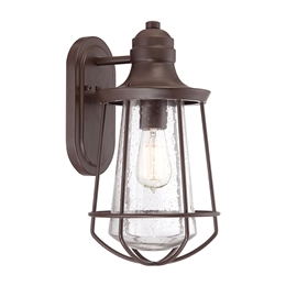 Elstead Lighting QZ/MARINE/M Marine Medium Exterior Wall Lantern in Western Bronze finish