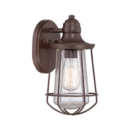 Elstead Lighting QZ/MARINE/S Marine Small Exterior Wall Lantern in Western Bronze finish