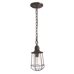 Elstead Lighting QZ/MARINE8/S Marine Small Chain Lantern in Western Bronze finish