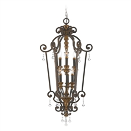 Elstead QZ/MARQUETTE6/B Marquette 6 Light Chandelier in Heirloom finish.
